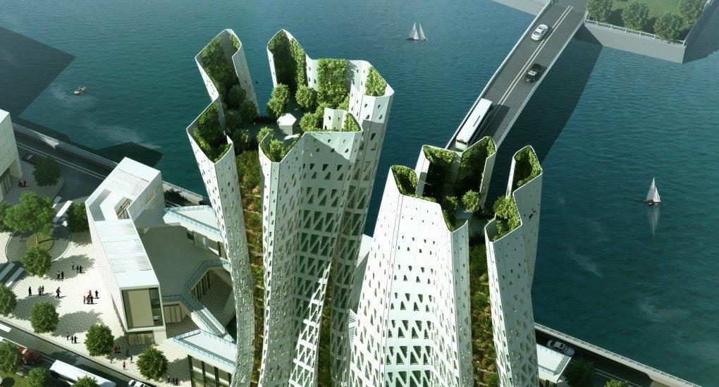 Гонконг - проект с озеленением | Зеленые крыши