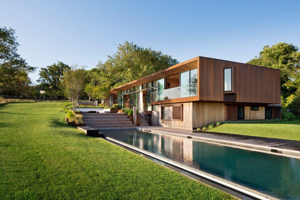 Дом с дренажной системой   Зеленые крыши