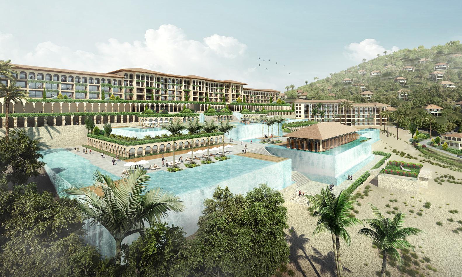 Проект курорта во Вьетнаме | Зеленые крыши