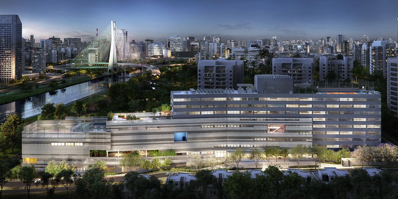 Ночной вид на кампус в Бразилии | Зеленые крыши