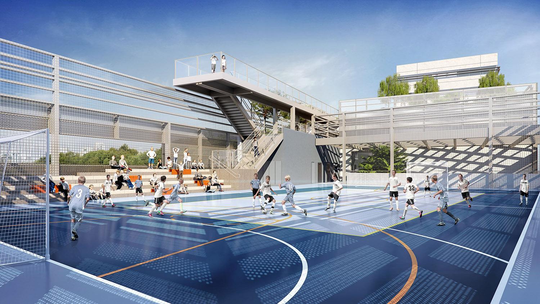 Футбольная площадка кампуса в Бразилии | Зеленые крыши