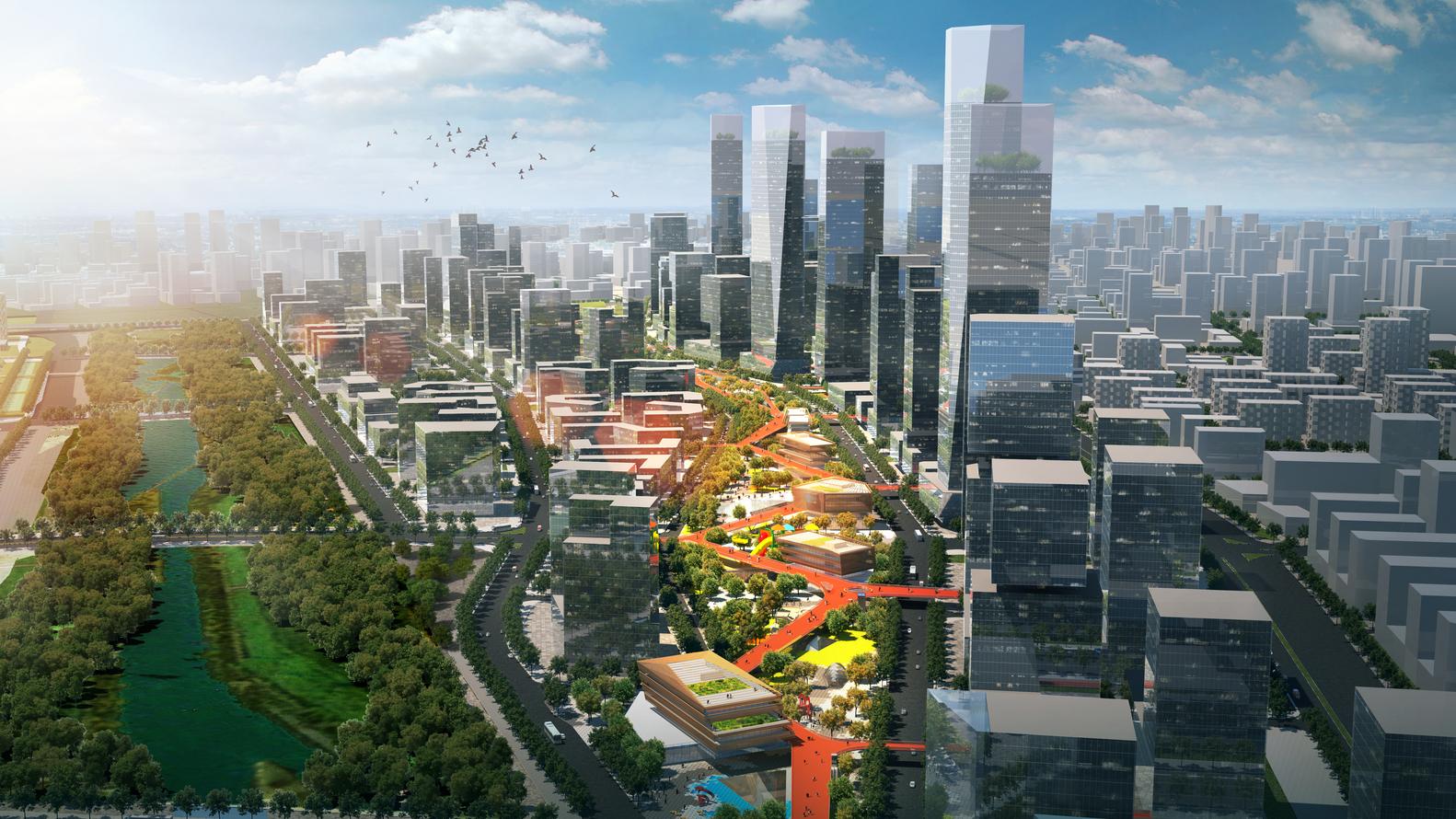 Шэньчжэнь - проектирование моста | Зеленые крыши